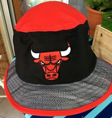 CHICAGO BULLS NBA - ADIDAS HEATHER RED TRIM BUCKET HAT CAP, SIZE XL