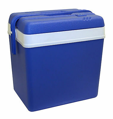 Large 24L Blue Cooler Box Camping Beach Picnic Ice Food Insulated Coolbox Travel