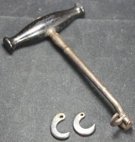 Dental Tooth Turn Key Extractor w/ Extra Hooks - Civil War Era - Vintage
