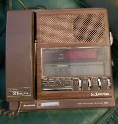 Vintage Emerson Fm/Am Radio, Clock, Telephone TR5