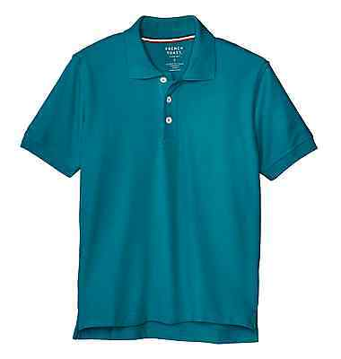 Boys Girls Teal Pique Polo Shirt French Toast Short Sleeve Uniform Sizes 4 to 20 ()