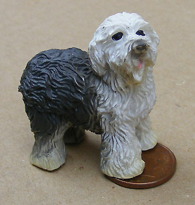 1:12 Scale Standing Old English Sheep Dog Tumdee Dolls House Pet Accessory LP11