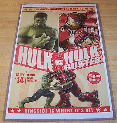 The Incredible Hulk vs Hulkbuster Iron Man Fight Bill 11X17 Poster