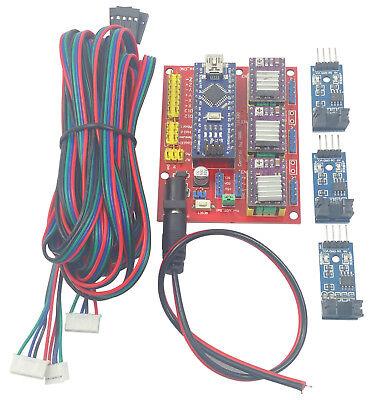 Arduino Nano Cnc Shield Drv8825 Kit W 3x Optical Sensor 3x 2m Stepper Cables