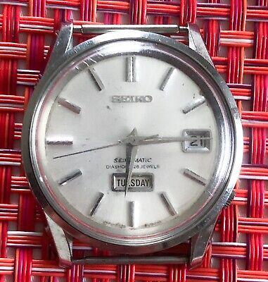 Vintage Seiko 6206-8040 Seikomatic Diashock 25 jewels Dolphin Mens Automatic PAR