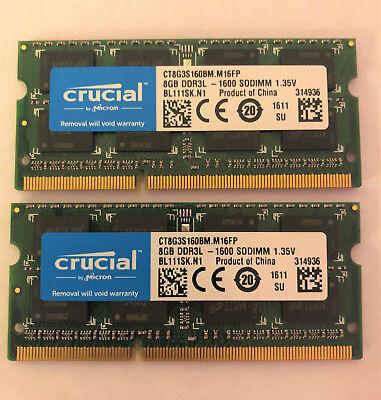 Crucial 16Gb Kit 2 X 8Gb Ddr3l 1600 Sodimm 1 35V