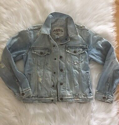Abercrombie and Fitch Woman's Denim Jean Jacket, Size M (O212)