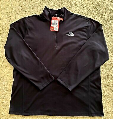 THE NORTH FACE Men's Glacier 1/4 Zip Fleece Jacket TNF Black size XXL - new tags
