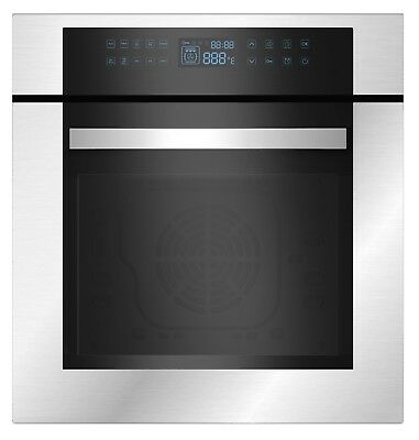 "Empava 24"" Stainless Steel LED Control Panel Electric Built-in Single Wall Oven"