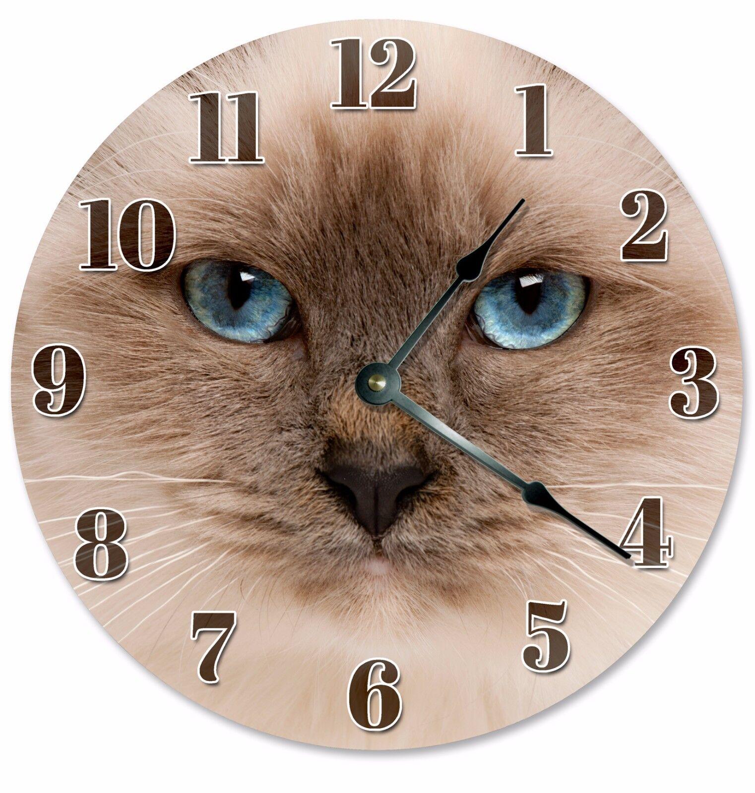 """HIMALAYAN CAT Clock - Large 10.5"""" Wall Clock - 2103"""