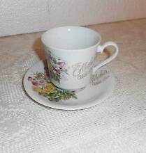 "VINTAGE FLORAL CHINA CUP & SAUCER ""TO MOTHER WITH LOVE"" JAPAN Ransome Brisbane South East Preview"