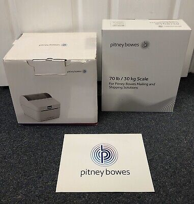 Pitney Bowes Networked Sendkit 1e41 Direct Thermal Label Printer And 70 Lb Scale