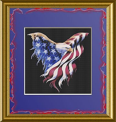 PATRIOTIC EAGLE~DELICA BEAD PEYOTE PATTERN ONLY