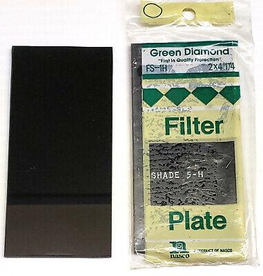 1 New Green Diamond Welding Helmet Filter Plate 2 X 4-14 Shade 5-h Fs-1h