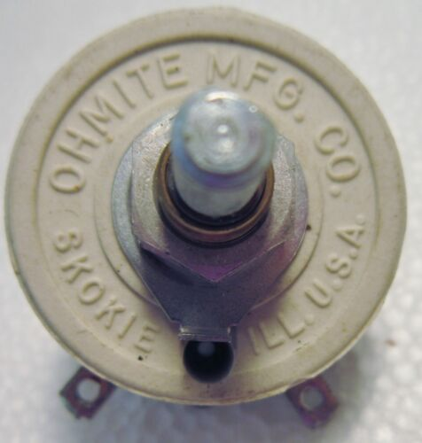 OHMITE  214L 10 ohms 25W 1.58 AMP MODEL: H RHEOSTAT STOCK NO. 0145