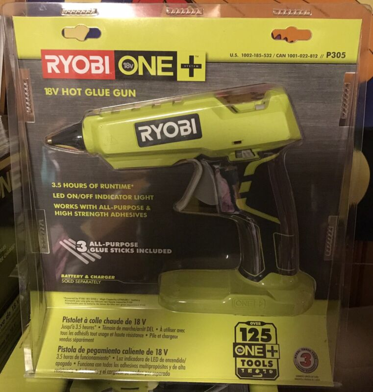 RYOBI P305 FULL SIZE GLUE GUN 18-VOLT LI-ION CORDLESS