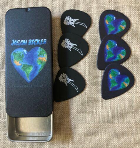 Jason Becker Pick Tin With 6 TRIUMPHANT HEARTS Jason Becker Guitar Picks