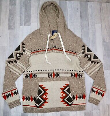 New AMERICAN EAGLE Aztec Navajo Sweater Style Large Western Indian American Eagle Cotton Sweater
