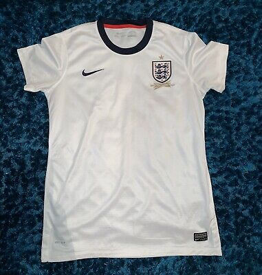 England Home Shirt 2013 150th Anniversary 8 Lampard Size Womens Medium M Nike