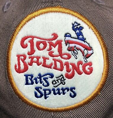 TOM BALDING BITS and SPURS Patch Country Cowboy Rodeo Baseball Cap Hat Imperial