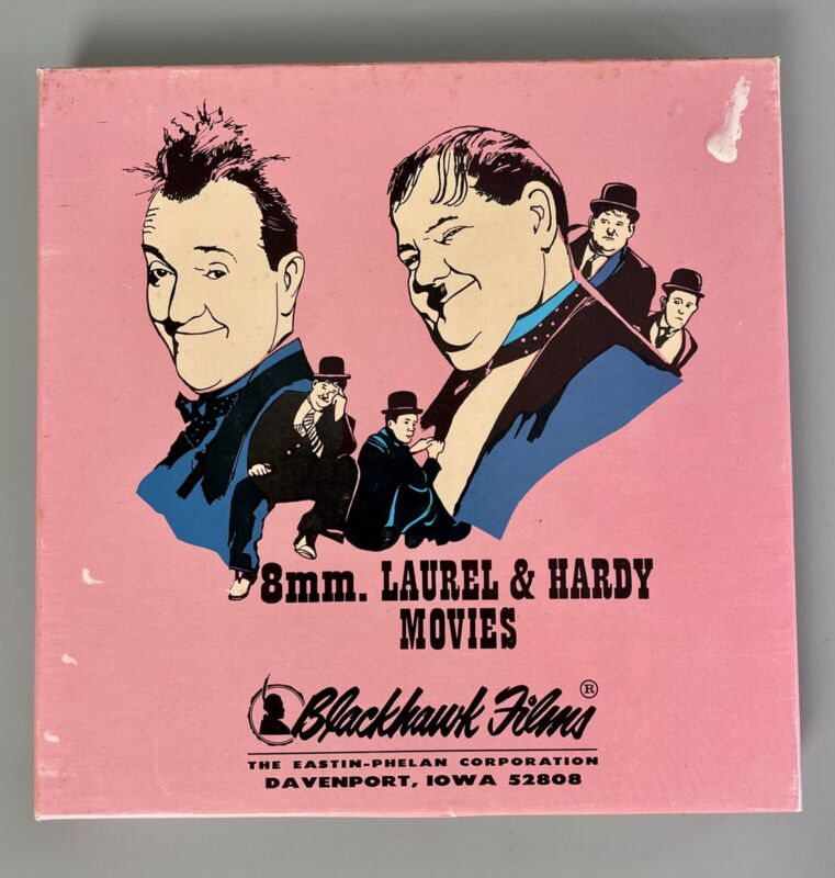 VTG Super 8 MM BLACKHAWK Films LAUREL AND HARDY Double Whoopee 860-20