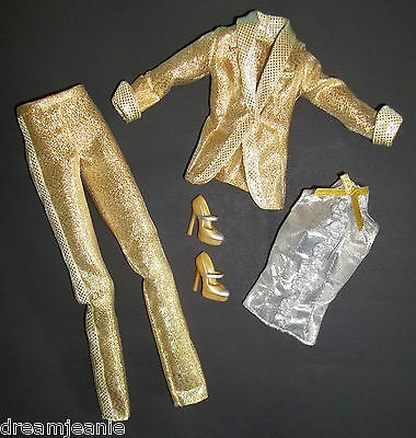 Gold Lame Elvis ($23.95 CLASSY SASSY ELVIS BARBIE GOLD SILVER LAME' TUXEDO SHOES MODEL MUSE NEW!)