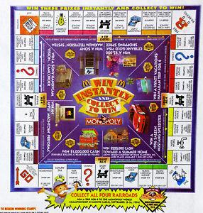 rare mcdonalds monopoly 2019