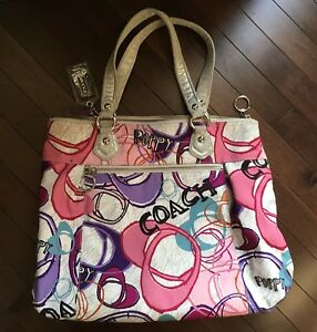 Large Multi-Color COACH Purse - EUC