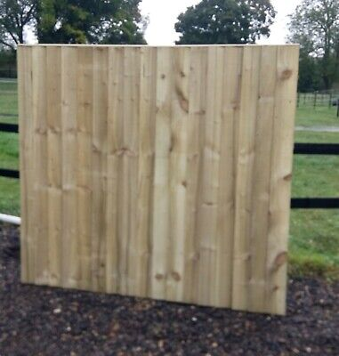 10 feather edge close board fence panels 1.65m x 1.83m wooden Garden fencing
