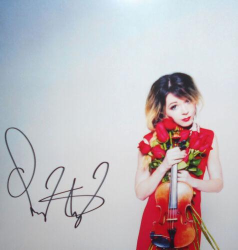 SIGNED PHOTO Lindsey Stirling Brave Enough 2-LP Vinyl New Sealed Autograph Rare