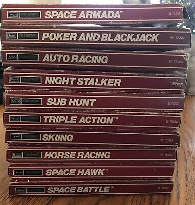 Sears Intellivision Lot Of 10 Video Games CIB UNTESTED For Auction W/Extra Bonus