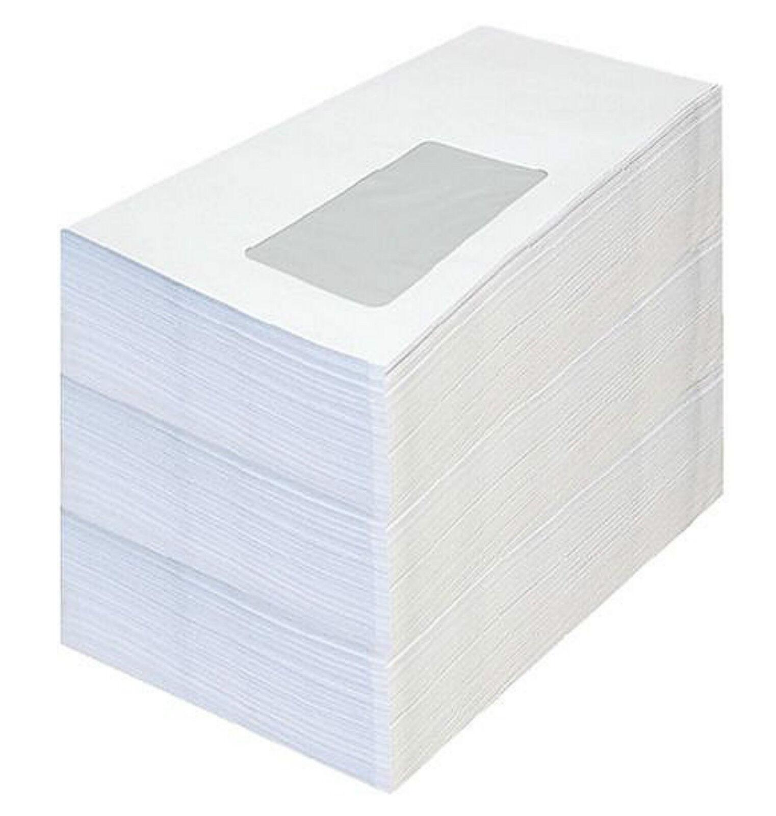 Briefumschlag DIN Lang Umschläge *mit od. ohne Fenster weiß-Selbstklebung