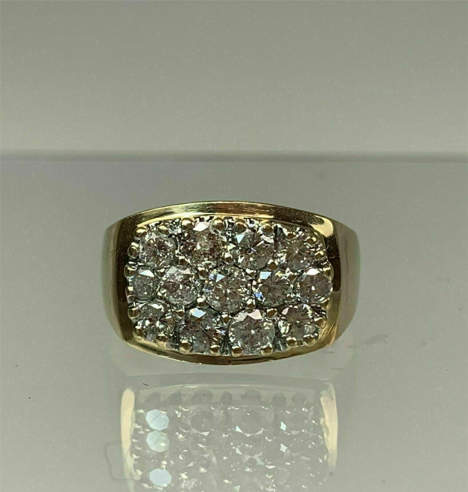 1.50 Ct Round Cut Diamond Gent's Men's Wedding Band Ring 14k Yellow Gold Over 2