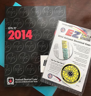 2014 NEC NFPA 70 National Electrical Code Book w/ EZ Tabs  Color Coded - NEW
