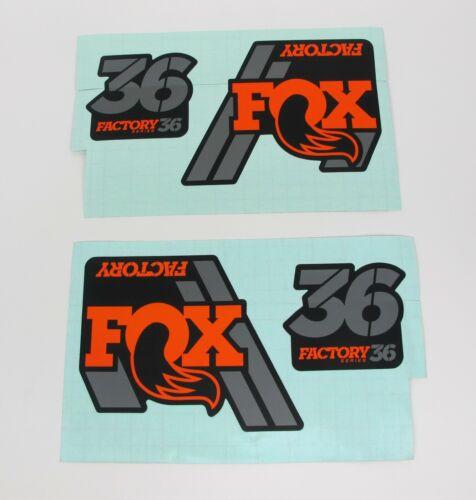 FOX Factory 36 Fork Decals Black Orange Gray Stickers