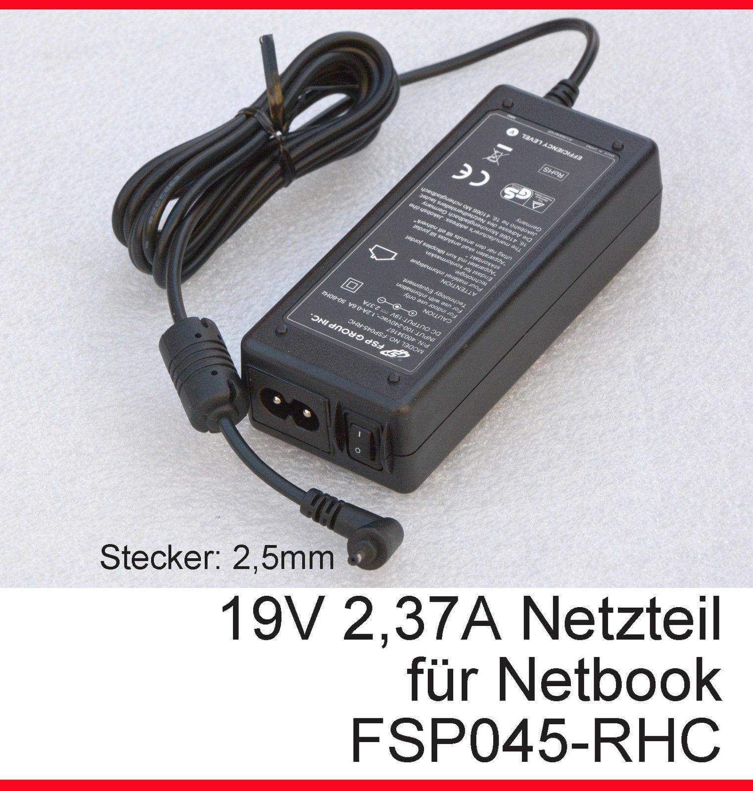 19V 2,37A Power Supply FSP FSP045-RHC 0 3/32in Plug Medion A