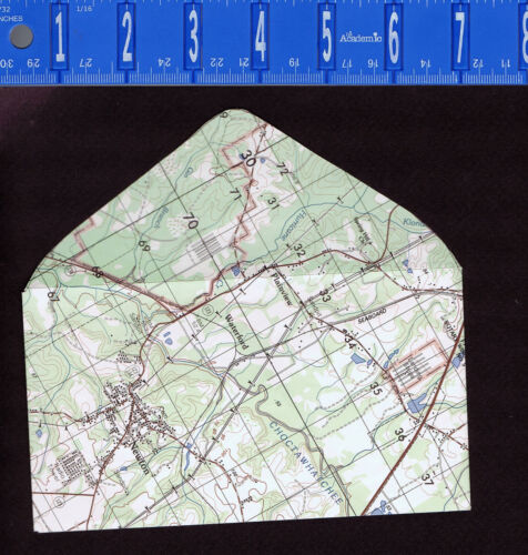 Envelope Made from an Army Aviation Map