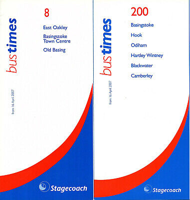 2 STAGECOACH BASINGSTOKE AREA 2007 BUS TIMETABLES