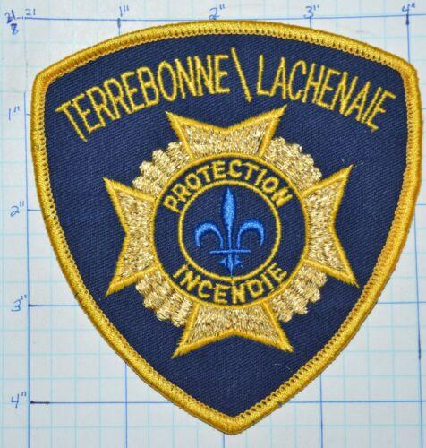 CANADA, TERREBONNE  LACHENAIE  FIRE PROTECTION INCENDIE QUEBEC GOLD EDGE PATCH