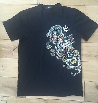 John Richmond Mens Tattoo T Shirt Size M