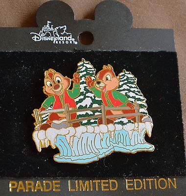 Disneyland CHIP & DALE CHRISTMAS PARADE FLOAT Retired Pin - Disney Pins