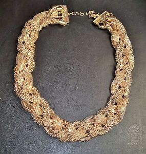 Amazing Vintage Gold Choker Women's Bib Party Statement Chunky Collar Necklace