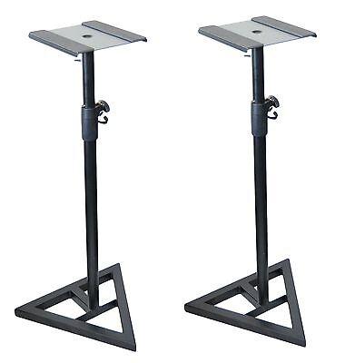2x Ignite Heavy Duty Near-Field Studio Monitor Speaker Stands Adjustable - Pair