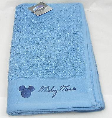 Disney Mickey mouse Badezimmer Handtuch mit Stickerei 70x140cm blau Badhandtuch