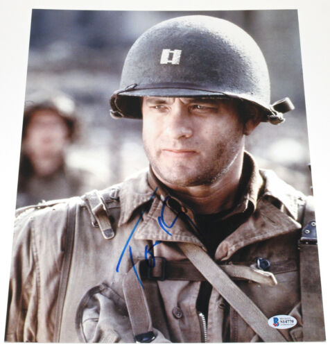 TOM HANKS SIGNED 'SAVING PRIVATE RYAN' 11X14 PHOTO ACTOR BECKETT COA BAS
