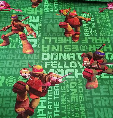 Ninja Turtles 50 X 140 cm 100% Baumwolle Teenage Mutant Schildkröte grün (Mutanten Ninja Schildkröten)