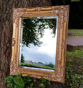 Ornate French Vintage Style Antique Gold Gilt Wall Mirror ...