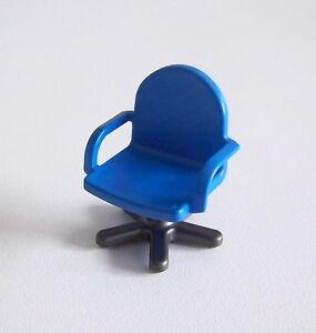 playmobil r311 garage chaise de bureau bleue 224 roulettes 3992 4404 ebay