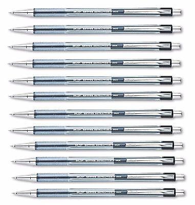 Pilot Better Ballpoint Retractable Pen Black Ink Fine 12 Pens Ribbed Finger Grip