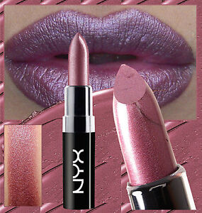 NYX WICKED LIPPIES LIPSTICK - POWER - DEEP METALLIC ROSE PINK SILVER SHIMMER